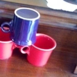 Set Of Three Fiestaware Coffee Mugs